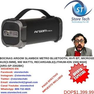 Bocinas Argom Slambox Metro Bluetooth, Hi-fi Bt, Microsd, Au