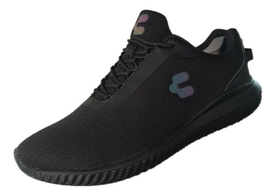 Tenis Charly Hombre 1029680 Negro Textil Deportivo Running