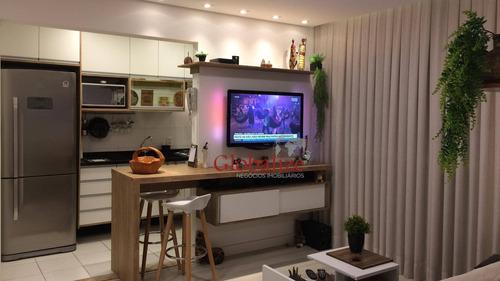 Imagem 1 de 30 de Apartamento Com 3 Dormitórios À Venda, 84 M² Por R$ 779.000,00 - Marapé - Santos/sp - Ap0105