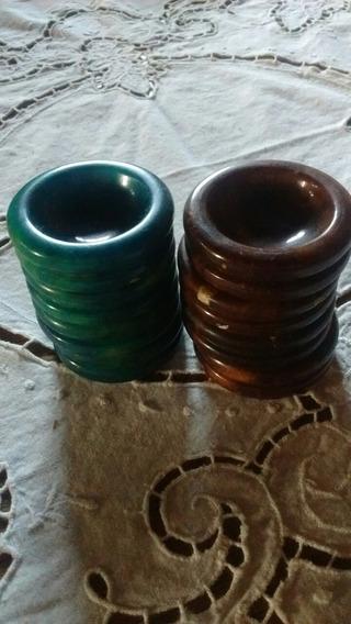 Antiguos Ceniceros De Poker Italiano Mármol X 8