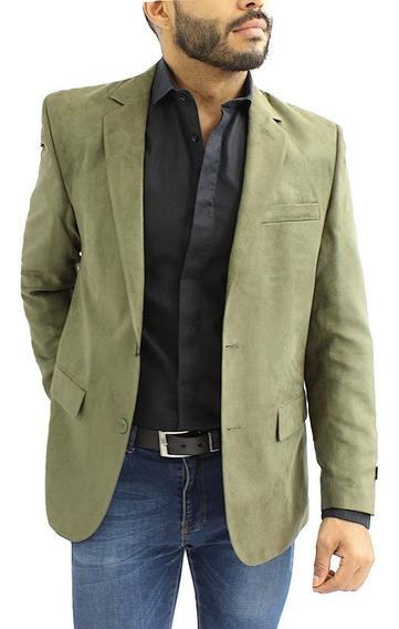 Blazer Hombre Saco Slim Suede Verde Colucci Envio Gratis
