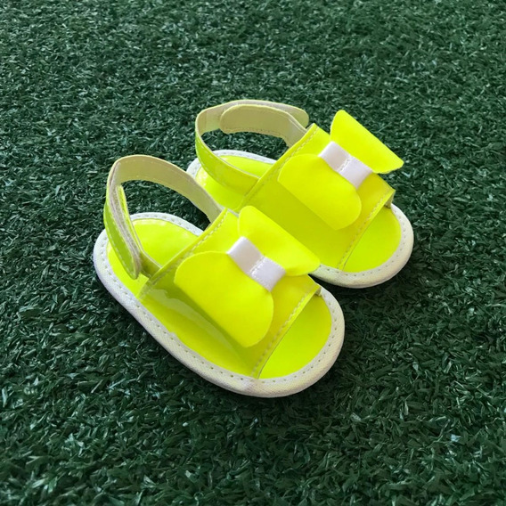 Sandália Verão Neon Verniz Pink Amarelo Laranja