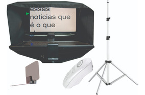 Teleprompter Monitor17/tripe/controle Remoto/adaptador D Cel