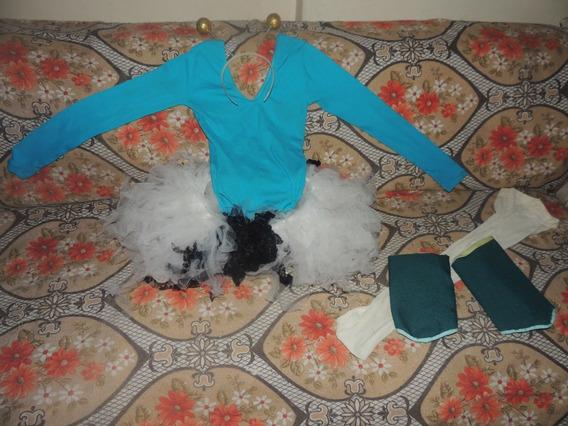 Elegante Disfraz De Bailarina Talla 8-10 Excelente Condición