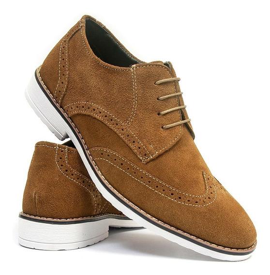 Sapato Oxford Fino Salazari Em Couro Camurça
