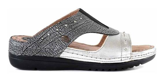 Sandalia Chinela Cuero Briganti Mujer Zapato Goma Mcch26068