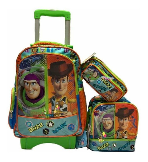 Toy Story 4 Kit Mochila Prim Carro Lonchera Lapi Combo