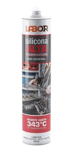 Imagen 1 de 6 de Sellador Silicona Rojo Alta Temperatura Labor 300 Ml