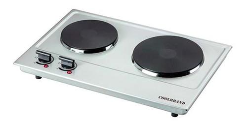 Imagen 1 de 2 de Anafe eléctrico Coolbrand Duo Cool 8099 plateado 220V