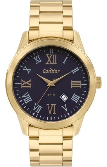 Relógio Masculino Dourado Condor Original Co2115kud/4a.
