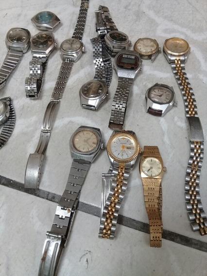 Lote Relógio Automático Feminino Orient Seiko (não Funciona)