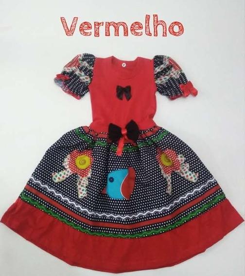 Vestido Caipira Infantil Modinha Festa Junina Promoção