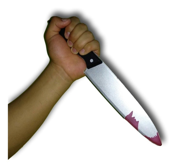Cuchillo Juguete Sangre Disfraz Halloween Jason Michael Myer