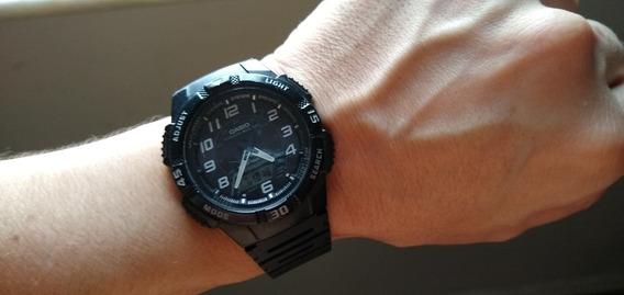 Relógio Masculino Casio Anadigi Esportivo - Aq-s800w-1bvdf