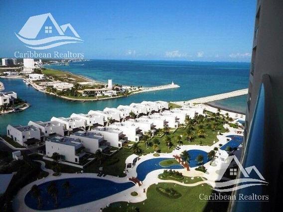 Departamento En Venta En Puerto Cancún/zona Hotelera/torre Boreal