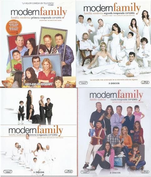 Modern Family Temporada 1 A 4 En Blu-ray Nacional Como Nvos