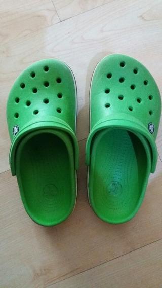 Crocs Verdes Talla 3 Aprox Talla 34