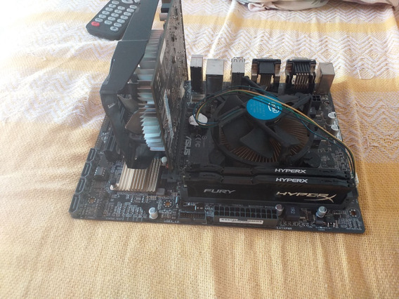 Kit Intel I3 7100+asus H110-c/br+8gb Hyperx+placa 750ti 2gb