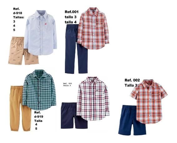 Ropa Carters Conjunto Niño Talla 3 4 Y 5 Camisa