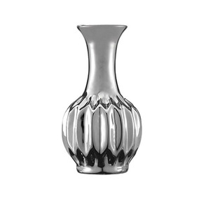 Vaso Decorativo Cerâmica Prata 12,5x6,5cm 5640 Mart