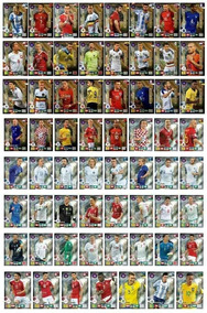 63 Cards Limited Edl Road Cup Russia 2018 + Envelope Gold