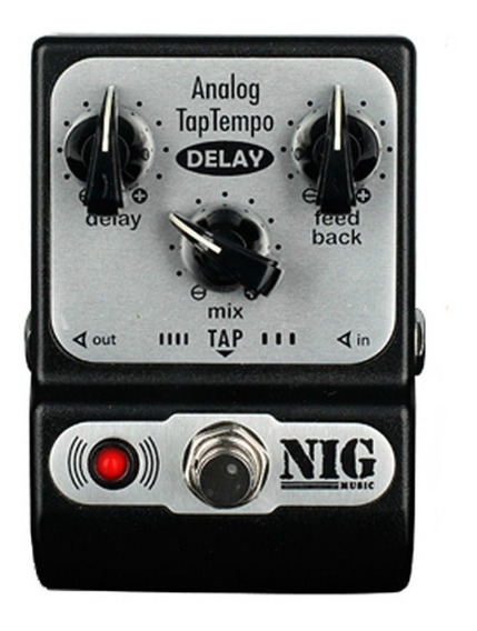Pedal Nig Padt Analog Taptempo Delay