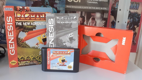 Pac-man 2- Sega Genesis Versão Cx De Papelão Original