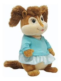 Pelúcia Alvin E Os Esquilos Eleanor - Bbr Toys Antialérgico