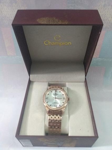 Relógio Feminino Champiom Passion -cn289642 Rose C/cristais