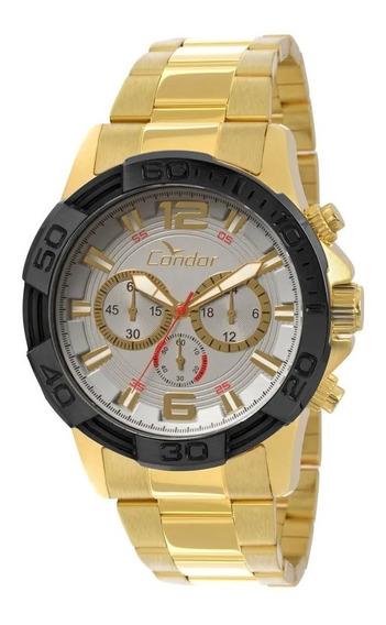 Relógio Condor Masculino Bicolor- Covd54aa/4k Promoção