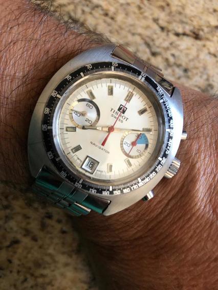 Relógio Tissot Navigator Corda Manual Anos 70 Zero