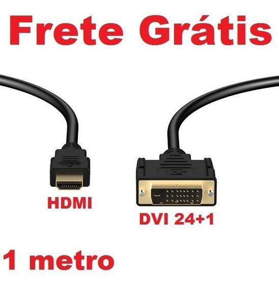Frete-grátis Cabo Conversor Adaptador Dvi 24+1 X Hdmi 1metro