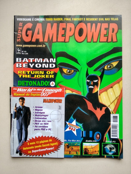 Revista Super Game Power 83 Batman Detonado Gamepro D575