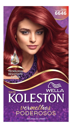 Coloração Creme Koleston Kit Cereja 6646