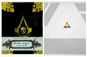 Livro Assassins Creed Barba Negra + Unity Abstergo Dossiê