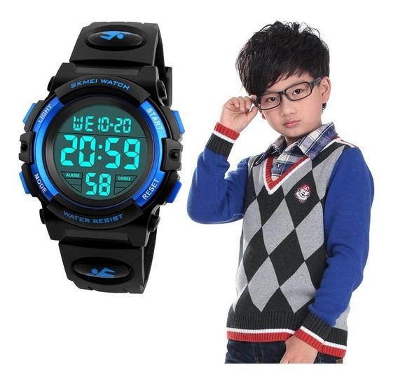 Militar Relógio Infantil Esportivo Skmei Digital Cronômetro