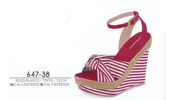 Zapatos Cklass Rojo/bla 647-38...outlet/saldos Mchn