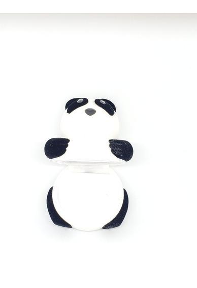 Estuche De Oso Panda De Terciopelo Para Anillo O Aretes