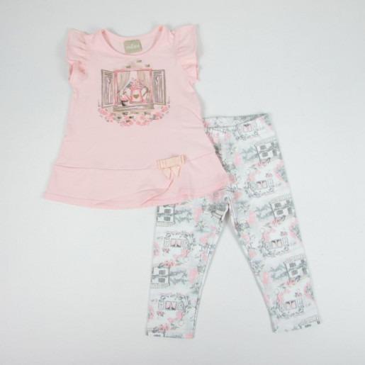 Conjunto Infantil Feminino Blusa + Legging Milon