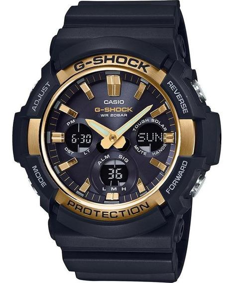 Reloj Casio G-shock Gas-100g-1a Big Case Solar Dorado