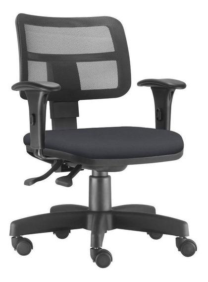 Cadeira Giratória Zip Executiva Ergonômica Escritório Preta