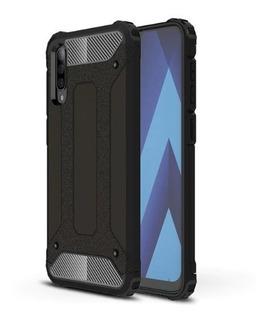 Funda Uso Rudo + Mica Cristal Templado Para Samsung Galaxy