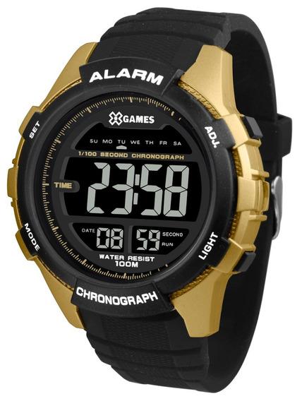 Relógio X-games Masculino Digital Xmppd538 Negativo Dourado