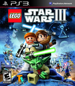 Jogo Lego Star Wars 3 The Clone Wars Ps3 Game Mídia Física