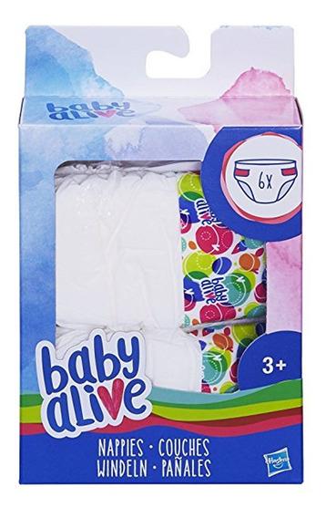 Baby Alive Recambios De Pañales Para Muñecas Hasbro