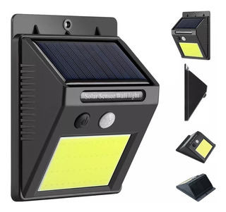 Aplique Reflector Led Panel Solar Sensor Movimiento 20 Leds