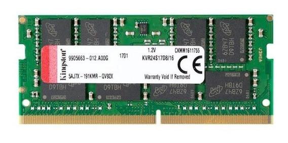 Memoria 16g Kingston 2400mhz Ddr4 Sodimm