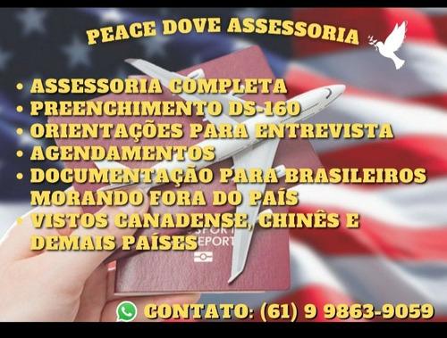 Assessoria Visto Americano - Peace Dove Assessoria
