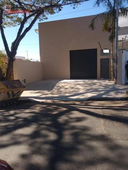 Barracão Para Alugar, 170 M² Por R$ 3.500/mês - Vila Pagano - Valinhos/sp - Ba0078