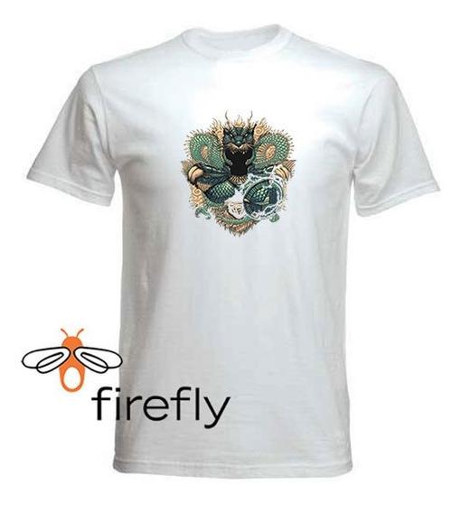 Remera Caballeros Del Zodiaco Hombre Blanca Col. 1 Firefly